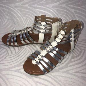 Girls fashion white sandals youth 5 SO brand